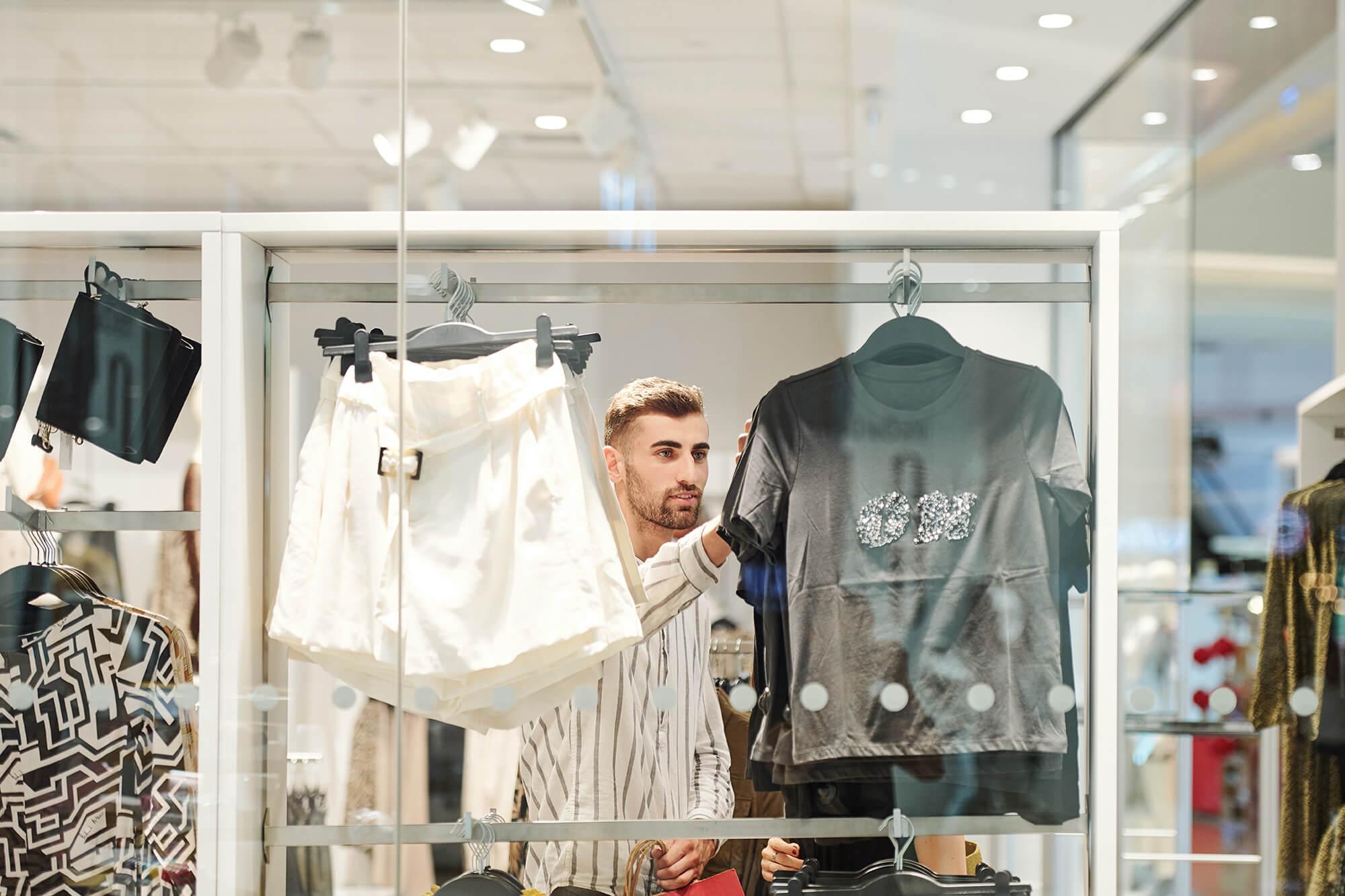 collegare negozio di abbigliamento